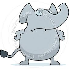 cartoon elephant angry by cory thoman toon vectors eps 1844