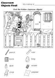 coloring objects worksheet pdf