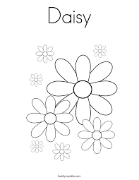 daisy coloring page funycoloring