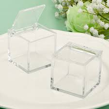 wedding favors boxes perfectly plain acrylic cube favor box