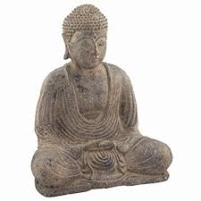 Buddha Home Decor Statues Amazon Com Stone Meditating Buddha Garden Statue Asian Art Patio