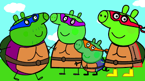 peppa pig mutant ninja turtles coloring coloring book learn