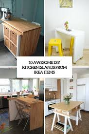 build kitchen island ikea cabinets 10 awesome diy kitchen islands from ikea items shelterness