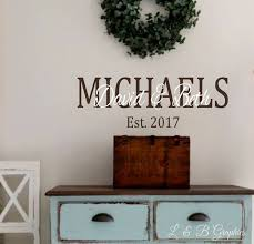 personalized family name 2 vinyl wall decal custom name