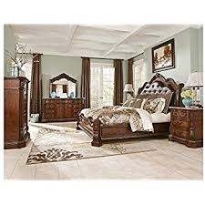 king poster bedroom set amazon com ashley ledelle poster bedroom set queen king or cal