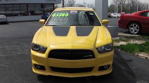 2012 dodge charger srt8 bee 2012 dodge charger srt8 superbee sedan yellow for sale dayton