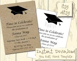 graduation announcements template graduation invitation template with a mortarboard design