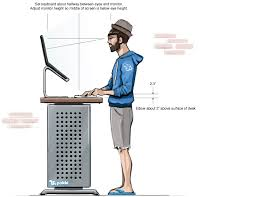 36 standing computer desk to reduce back pain and raise your