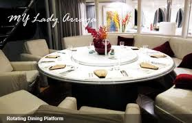 rotating dining table rotating dining m y arraya superyacht