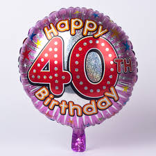 birthday balloons for him purple age 40 foil helium balloon only 2 49