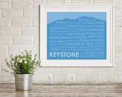 Wildfire Telluride Co by Keystone Ski Trails Print Keystone Co Art Print Gift For