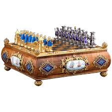 austro hungarian silver gilt and enamel chess set at 1stdibs