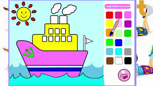boat coloring pages for kids colored baby boat paddle boat