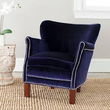 Blue Accent Chairs For Living Room by Safavieh Joey Blue Cotton Blend Arm Chair Mcr4651a The Home Depot