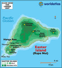 island on map rapa nui map of easter island chile and easter island map and