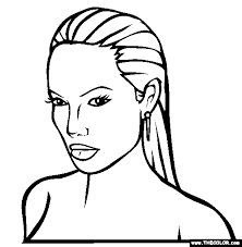 coloring pages of people famous actress coloring pages page 1
