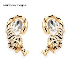 not on the high earrings rainbow high quality gold color not fade earrings rhinestone