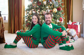 his and hers christmas pajamas christmas decore