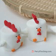 rooster marshmallows fun family crafts