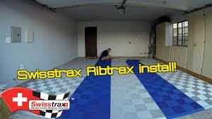 garage makeover part 1 swisstrax ribtrax install youtube