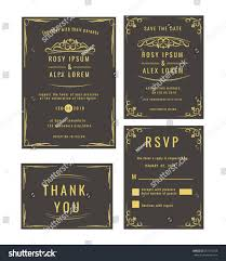 Wedding Invitations And Rsvp Cards Together Wedding Invitation Save Date Rsvp Card Stock Vector 597112748