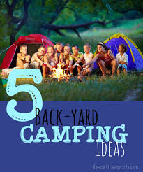 backyard camping ideas christmas lights decoration