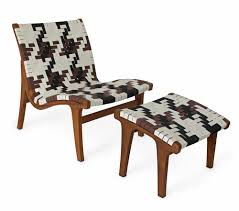 lara lounge chair with alternative weaving pattern made in teak
