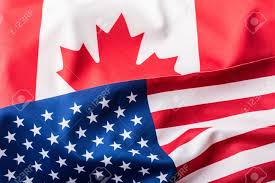 Canada Flag Colors Usa And Canada Usa Flag And Canada Flag Stock Photo Picture And