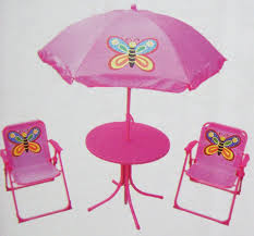 Butterfly Patio Furniture by Childrens Garden Furniture Patio Set Kids Table Chairs U0026 Parasol