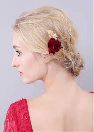 hair ornaments in stock stunning alloy wedding hair ornaments with cloth roses