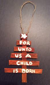 popsicle stick tree ornament isaiah s prophecy about