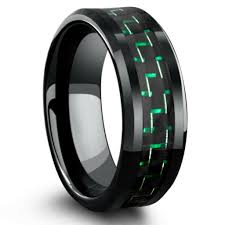 black wedding bands for him and luxury black and green mens wedding band