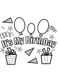 kids party free birthday coloring pages birthday coloring pages