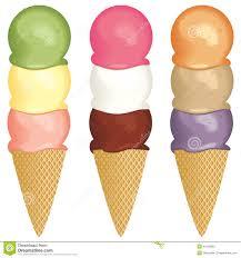 ice cream clipart ice cream 3 scoops stock vector image 40186852