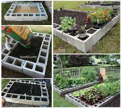 Diy Garden Bed Ideas Cinder Block Raised Garden Bed