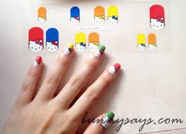 bunny says hello kitty nail decal stickers