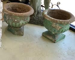 Greek Key Motif Old Concrete Urns With Greek Key Motif 15