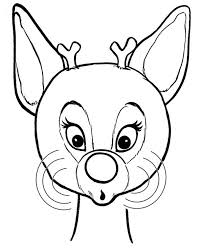 beautiful red nose rudolph reindeer coloring color luna