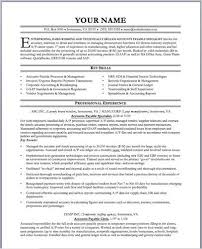 sample accounts payable clerk resume
