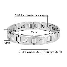 magnetic bracelet stainless images Bio energy healing magnetic therapy bracelet golfers delight jpg