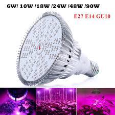 cheapest spectrum led grow light e27 6w 10w 18w24w 48w 90w