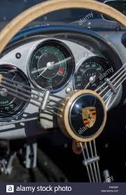 porsche steering wheel steering wheel and dashboard of a vintage porsche 550 spyder