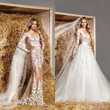 Long Sleeve Wedding Dresses Zuhair Murad 2015 Long Sleeve Wedding Dresses With Removable Skirt