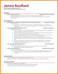 Resume Sample Computer Skills College Student Resume Template Word Free Resume Example And