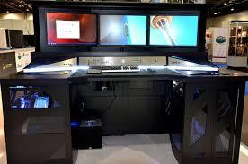 Computer Desk Setup Ideas Best Desk Setup Ideas On Pinterest Gaming Setup Monitor And