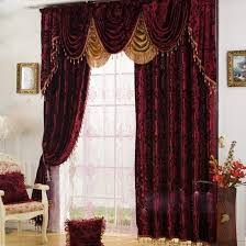 Burgundy Curtains Living Room High End Velvet Burgundy Blackout And Thermal Luxury Curtains