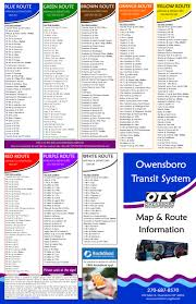Map In Spanish Owensboro Transit System