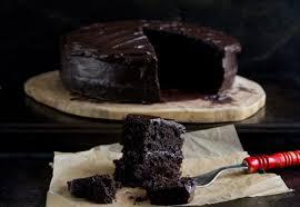 buckwheat chocolate layer cake w salted dark chocolate frosting