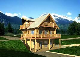 Log Cabin Floor Plans With Loft by 1920 Sq Ft Log Home Design Coast Mountain Log Homes