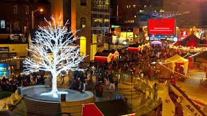 market commons tree lighting ceremony massive annual christmas celebrations set to hit brton this